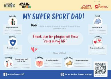 Active Parents Fathers Day - eCert