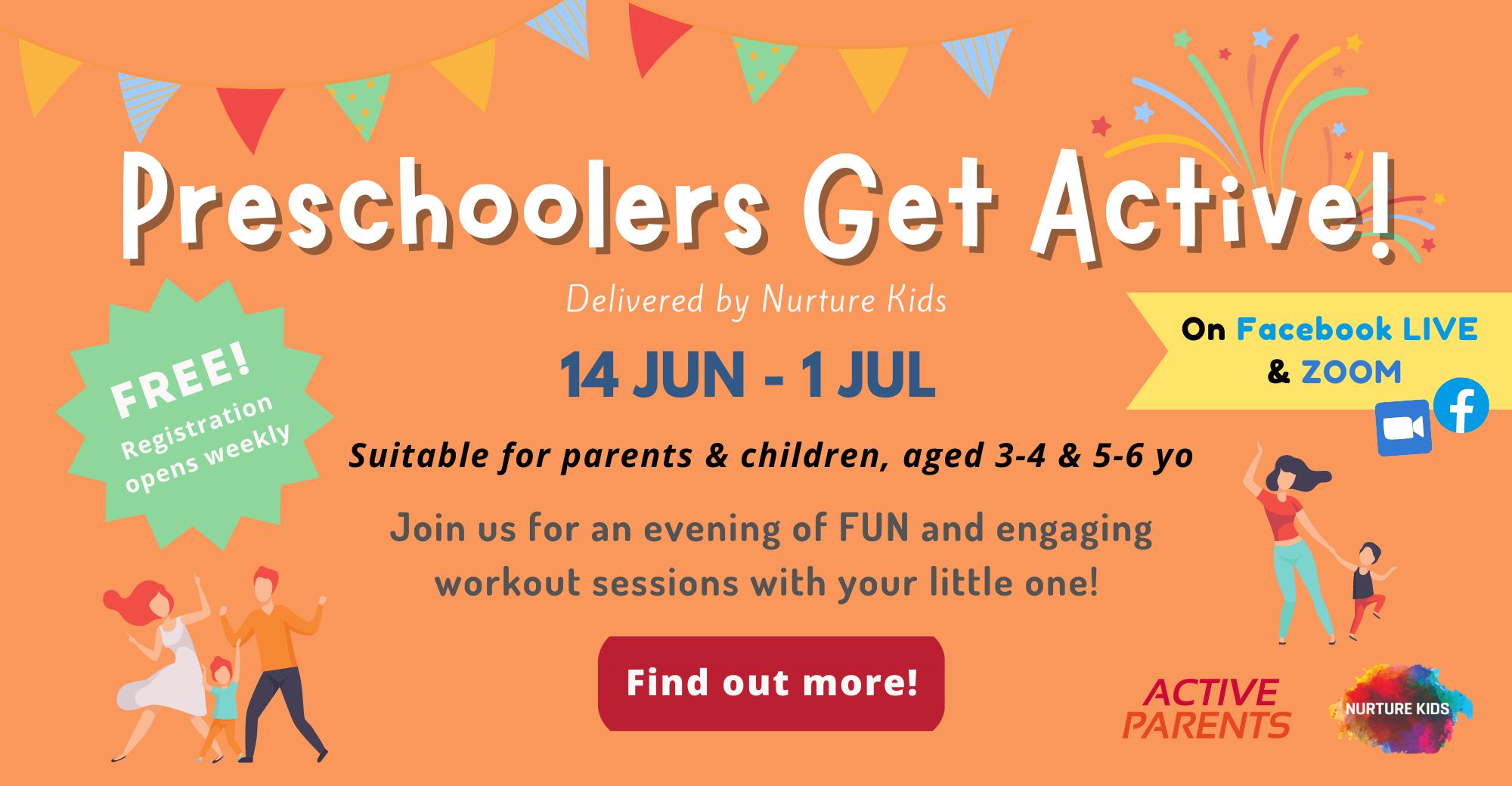 Preschoolers Get Active! - Campaign Page Banner